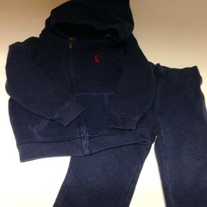 Ralph Lauren Polo Hoodie Jacket & Pant Set Boy 18M